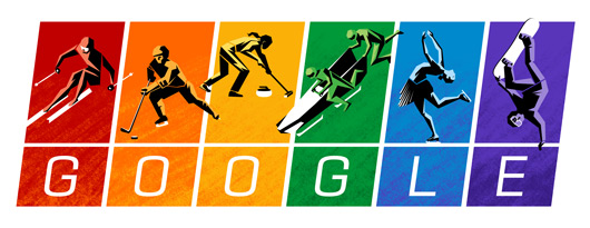 Googles Winter Olympics Logo